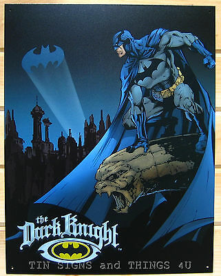 Dark Knight TIN SIGN dc comics vtg superhero batman metal poster kids decor 1356