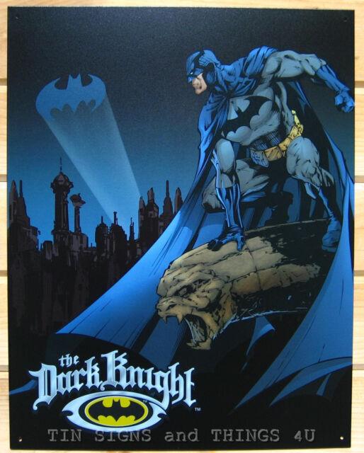 Dark Knight TIN SIGN dc comics vtg superhero batman metal poster kids decor 1356