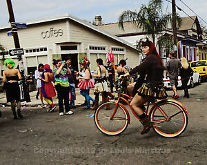 Bicycle-Girl-Mardi-Gras-2012-NEW-ORLEANS-8x10-Photo-Signed-by-Louis-Maistros