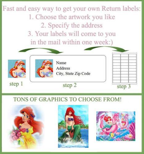 30 Personalized Mermaid Return Address labels Buy 3 get 1 free me1