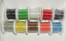 Assortment of 10 Colored Wire Rolls 22 Gauge Solid Core 25ft each 250ft Total