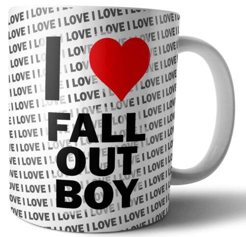I LOVE Fall Out Boy Thé-Café-Tasse-Tasse Anniversaire-Noël-Cadeau