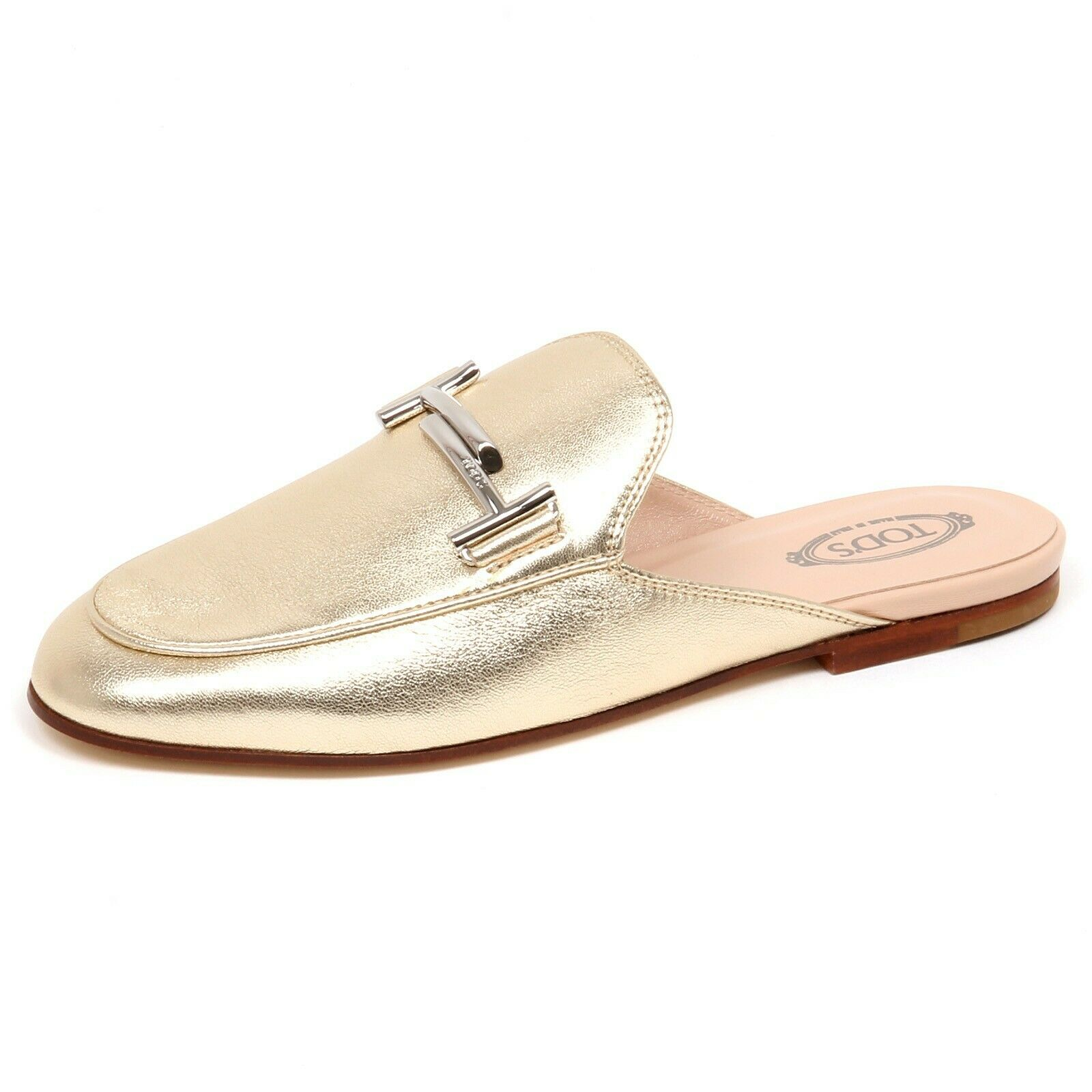 F3240 sabot mujer light oro Tod's zapatos doppia t loafer zapatos Woman