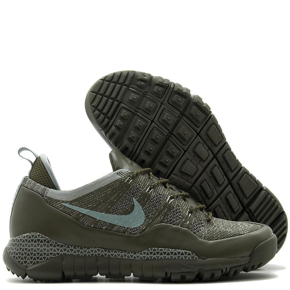 Men's Nike Lupinek Flyknit Low Running Shoes 882685 300 Cargo Khaki Size 11 NEW