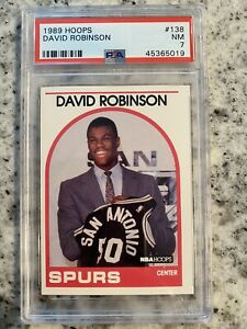1989 90 Nba Hoops Psa 7 David Robinson 138 Graded Rookie Card Near Mint 1989 Ebay