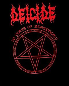 DEICIDE CD COVERS UPSIDE DOWN CROSS Official SHIRT LAST SMALL serpents scars OOP