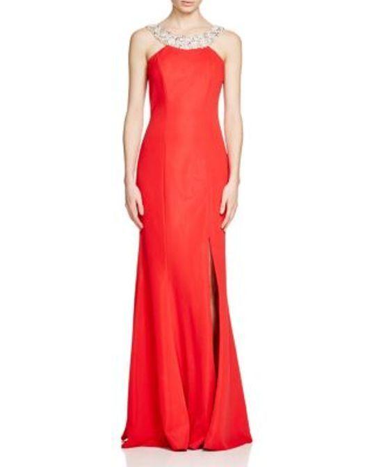 JC Collection Embellished Neck rot Gown Größe 4 K 29 MRSP