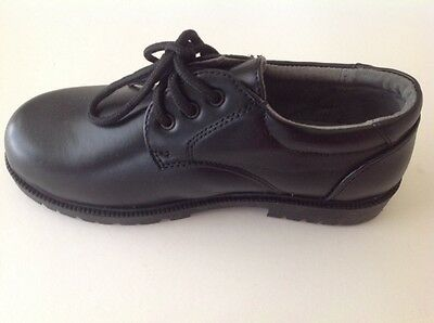 Boys BLACK LEATHER LINED OXFORDS Dress or SCHOOL SHOES  NIB