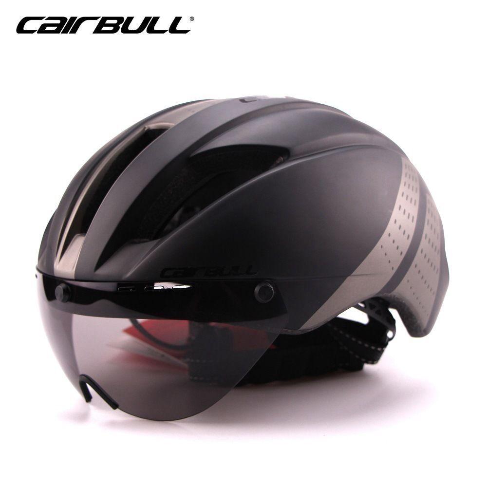 MTB Bike Helmet High-density EPS Cycling Helmet with Detachable Goggles Visor