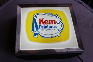 Hardware-Store-Light-Up-Sign-KEM-Paint-French-Advertising-Sign-Plastic-Front
