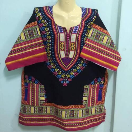 Details about  /BLACK MEN SHIRT AFRICAN DASHIKI BLOUSE BOHO CAFTAN TOP DRESS HIPPIE PRINT SIZE