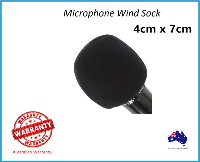 2x Microphone Wind Sock Foam Cover Black Windsock Shure Yoga Redback AU