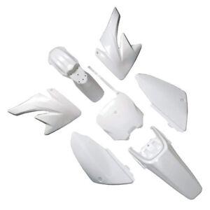 NEW BLACK FENDER PLASTIC KIT Compatible With HONDA CRF 70 CRF70 PlASTICS black//white
