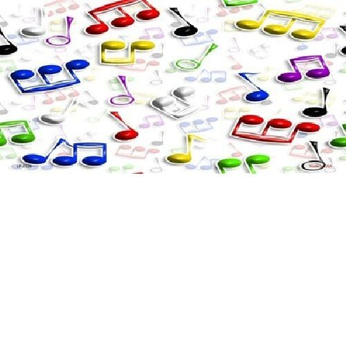 Musical Notes Multi-Color License Plates