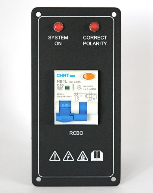 Narrowboat / Boat AC Control Panel with RCBO
