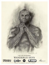 "WANDERLEI ""AXE MURDERER"" SILVA Limited Edition Art Poster by Richard T. Slone"