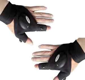 1 LED Neopren Handschuh links rechts Gadget Nacht fischen Helfer Licht Neu Top n