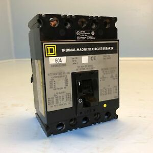 Details about Square D FHP360601380 60A Circuit Breaker w/ Shunt & on