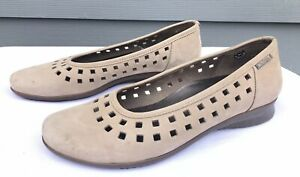 Mephisto-Air-Jet-Women-039-s-Beige-Cut-Out-Design-Comfort-Slip-On-Sandals-Size-US-10