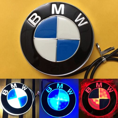 4D LED Car Logo Auto Badge Emblems White light for BMW 1 3 4 5 6 7 X3 X5 X6