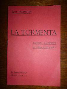 GEO-TALMOUN-LA-TORMENTA-Romanzo-Illustrato-di-Terra-E-di-Mare-Milano-1914