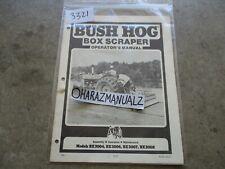 Bush Hog Model Bx3004 Bx3006 Bx3007 Bx3008 Box Spreader Operators Manual