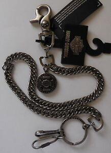 Harley Davidson Generator Wallet Chain Medallion Bar & Shield W/Skull NEW