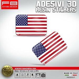 Adesivi-Stickers-3D-USA-AMERICA-FLAG-AUTO-MOTO-CASCO-CELLULARE-GADGET-RESINATI