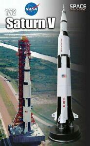 Saturn-V-Mondrakete-Fertigmodell-DRAGON-1-72-1-50-m-hoch