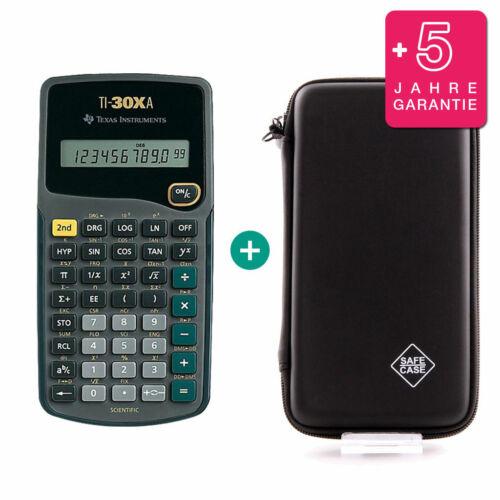 Schutztasche und Garantie TI 30 XA Taschenrechner