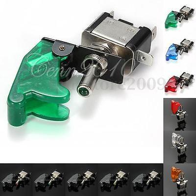 12V 20A Car Truck Carbon Fiber LED Toggle Switch Light Racing SPST 11- Colors