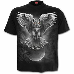 Spiral-Direct-Wings-Of-Wisdom-Tribal-Owl-Moon-Night-Short-Sleeved-T-Shirt