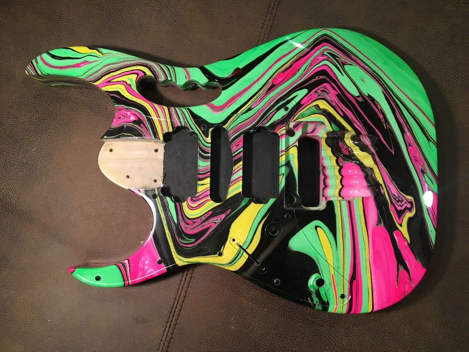 6 string, LEFTY, Passion and warfare swirl, Jem style guitar body, AANJ - RB13