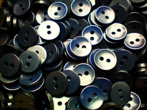 Pequeño 11mm 18L Azul Marino Botones Camisa de calidad 2 Agujeros Coser Tejer Artesanía DD1