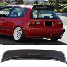 For 1992 1995 Honda Civic 3Dr EG6 Hatchback Rear Roof Spoiler ABS BYS Style