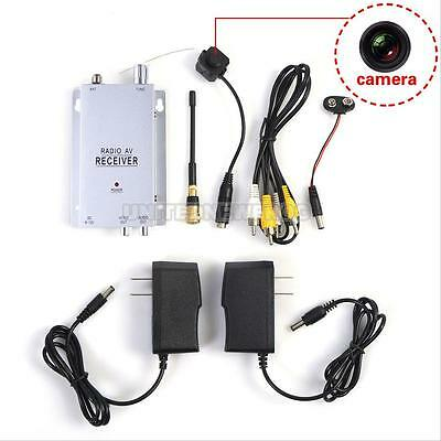 New Mini Wireless TV System Micro Camera Transmitter Wifi Receiver Full Kit UN0F