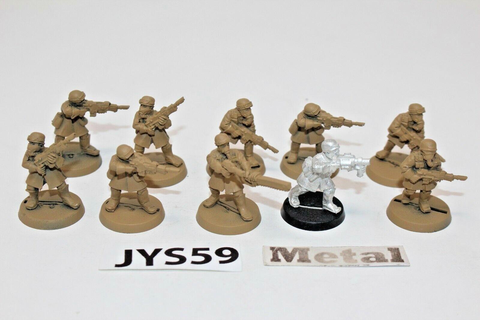 Warhammer Imperial Guard Steel Legion Squad Metal - JYS59