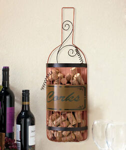 New Hanging Wine Cork Holder Vineyard Wine Themed Kitchen Home Decor Ebay