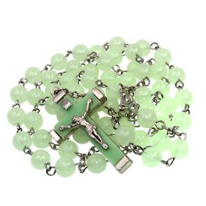 Catholic-Plastic-Luminous-Green-Rosary-Prayer-Beads-Glow-in-Dark-Necklace-22-034