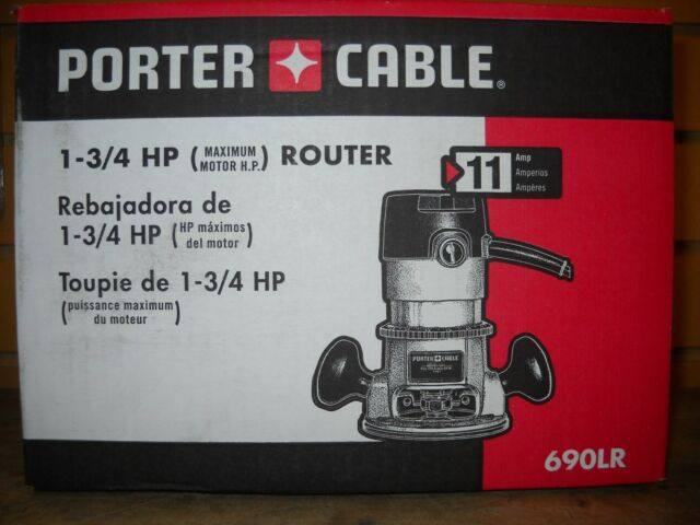 """Porter Cable 690LR 1 3/4 Peak HP Router 1/4"""" & 1/2"""" collets New Electric Tool"""