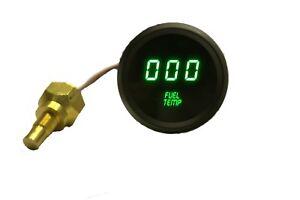 "2 1//16/"" Universal Digital Boost Gauge Green LEDs Black Bezel Made In The USA"