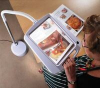 Led Magnifying Reading 5x Magnify Lamp Large Adjustable Flexible Floor Plastic
