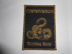COMMUNION-Witching-Metal-Gold-Patch-Kratherion-Bathory-Poison-Hades-Archer