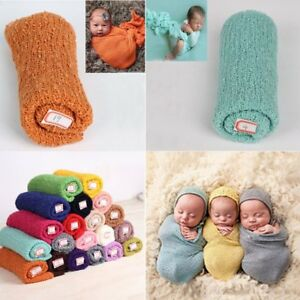 Newborn Baby Girl Boy Crochet Knitted Wrap Rayon Swaddle Swaddling Photo Prop US