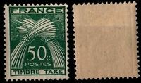 TIMBRE TAXE Agricole 50 c, Neuf * = Cote 11 € / Lot Timbre France n°80
