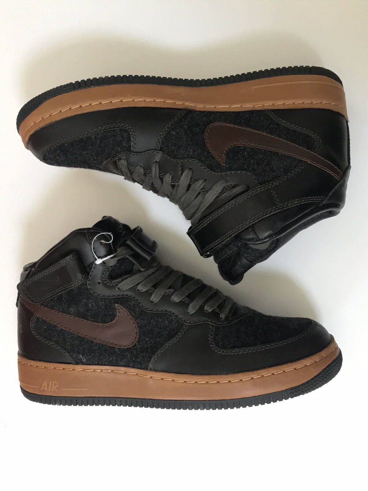 NEW 2004 NIKE AIR FORCE 1 MID MID MID INSIDEOUT SIZE 10.5 US 9.5 YEEZY 7c2122