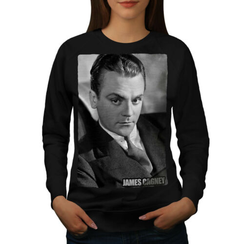 Star Famous Pullover Sweatshirt Cagney Casual Black Jumper James Womens Wellcoda 7vFqUUd