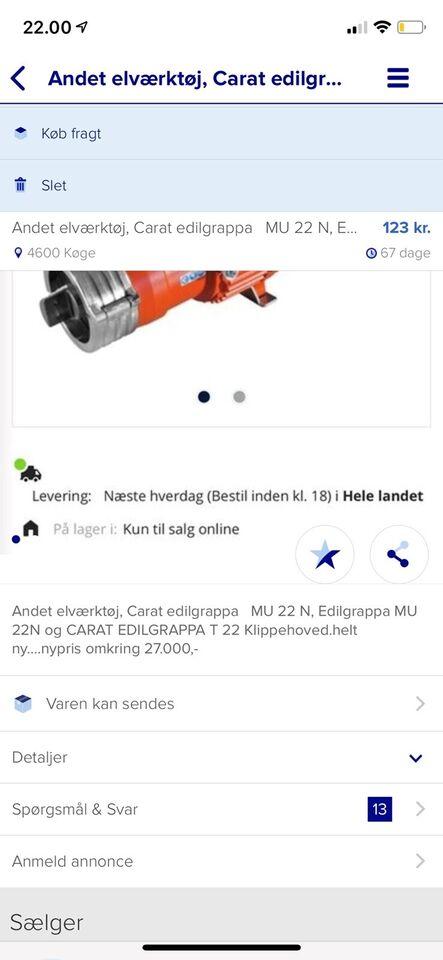 Andet elværktøj, Carat Edilgrappa