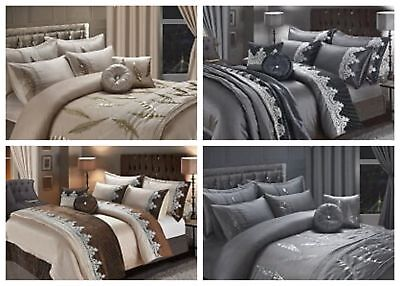 Alessia Embroidery Duvet Covers Bedding Sets Curtains//Bed Throw+sham// c//cover
