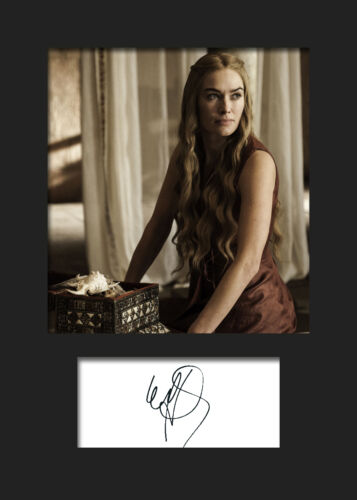 Lena Headey #2 A5 Signed Mounted Photo Prin CERSEI LANNISTER GAME OF THRONES